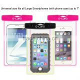 6 inch Waterproof Case with Glow Stick and Matching ABS Clip and Glow Lanyard for iPhone 6 Plus