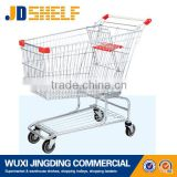 steel pipe American style electric shopping cart trolley