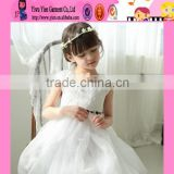 Factory Selling High Quality Europe Style Party Dress Lowest Price White Lace Hot Baby Girl Baptism Dress
