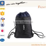 Custom Waterproof Nylon bag with custom printed drawstring dust bags ,drawstring shoe bag