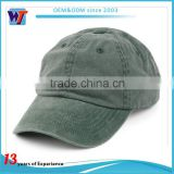 Washed 100% cotton short brim blank unstructured dad baseball cap