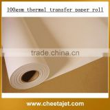Guangzhou factory best price heat transfer paper roll/sublimation paper roll/thermal paper rolls