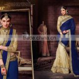 Blue Georgette On Net Designer Lehenga Saree