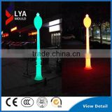 2016 Fashion Design Plastic LED Roman Light Pillar For Wedding Decoration Colors