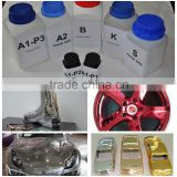 Colorful liquid chrome paint, mirror chrome spray paint,chrome paint for wheels