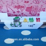 Mitre fold brand name printing label for baby clothing