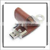 USB Flash Memory Pen Drive U Disk Brown Leather 32GB