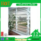 Factory price energy-saving double glazed aluminum glass window louver awning glass shutter