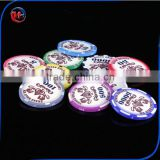2016 newest upscale spot 40mm ceramic chips coins Poker Chips Crown Tupper chips 10g