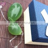 wholesale kegel balls natural jade eggs kegel eggs for women vaginal exercise drilled jade yoni eggs
