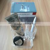 wholesale clear cosmetic acrylic makeup organizer with 3 grids for store jewelry cosmetic