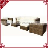 Latest office furniture prices modern luxury rattan hand craft office sofa set