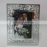 Diamond And Silver Shining Wedding Glass Photo Frame