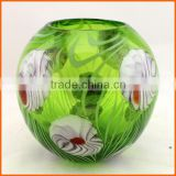 Best selling beautiful hand blown glass candle holders