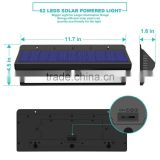 Good quality , 62Led Solar Motion Sensor UV light sensor solar sensor led light for patio