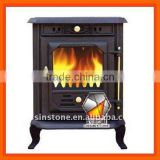 Cast iron material wood burning fireplaces