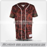 customized 100 cotton plain baseball jersey, camo baseball shirts and pants