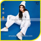 Women fashion design Long sleeve Customized Plain Custom Track Suit wholesale track suits