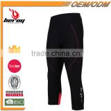 BEROY Three Quarters Cycling Bike Riding Pants, Custom Women's Bicycle Pants