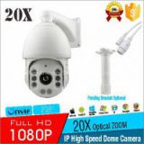 HD 2.0MP Outdoor Waterproof 20X Optical Zoom Onvif P2P 1080P IP High Speed Dome PTZ Camera