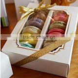 10 capsules Macarons baking box packaging Macarons box open and transparent window the chocolate box