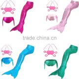 3pcs Swimmable Mermaid Tail with Monofin Swimming Mono Flippers Swimwear