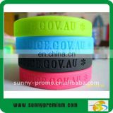 deboss silicone wrist band