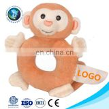 New Educational kids toy stuffed plush monkey baby bed hanging toy Safe quality cute stuffed animal soft plush baby rattle toys