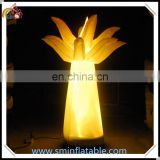 Hot sell inflatable palm tree, inflatable tree replica, led lighted coconut tree model for decoration