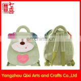 Wholesale plush animal backpack cute plush dog head dog backpack