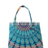 Mandala Hand bag Handmade handmade mandala tote bag Mandala cotton tapestry hobo handbag/girls shopper bag Handle bag wholesale