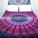 Queen Purple Mandala Tapestry Bohemian Bedspread Indian Hippie Wall Hanging