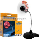 Programmable LED Message Fan by USB power