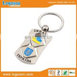 Popular Color filled Gold Plating Ukraine Keychain Gift