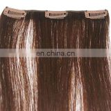 2015 Top quality cheap colored white clip in hair extension