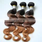 wholesale cheap human hair could be dyed ombre colored brazilian hair weave