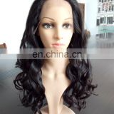 Fashions Cheap High Quality Body Long Length Wave Brazilian Indian Human Hair Lace Front Wig