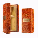 Luxury glossy wooden wine box whisky bottle packaging box with custom logo