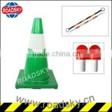 Construction Warning PVC Lime Green Traffic Cones