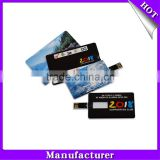 Factory OEM full-color imprinting 1gb 2gb 4gb 8gb 16gb 32gb 64gb credit card usb flash drive