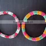 Valentine gift - Glass Beads Roll Bangles