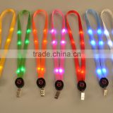 led lighting lamp with lanyard Label badge lanyard Nylon reflective tags design faith fashion caful easy-going beauty equal