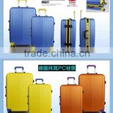 Aluminum buckle luggage trolley case,hard luggage,abs/pc luggage set