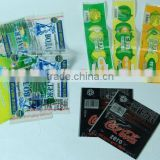 food and beverage bottle shrink film adhesive label