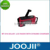 solar powered am/fm radio/dynamo hand crank flashlight radio/portable solar radio mp3 player