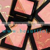 OEM baked powder blusher compact, wholesale lovely color makeup blush, natural organic cosmetics blushes