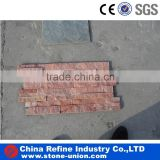 Red quartz stone stacked ledge pannel stone tile