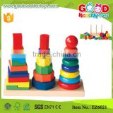 25 pieces Wood Stacking Game Geometric Stacker Kids Kindergarten Toys