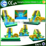 Hot selling green inflatable pool slides,inflatable water slide with pool