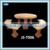 Marble carving of dining table and bench